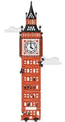 Big Ben embroidery design