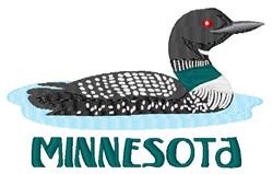 Minnesota Wood Duck embroidery design