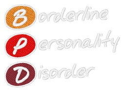 Borderline Personality Disorder embroidery design