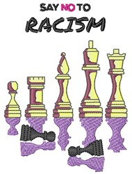 Say No To Racism embroidery design