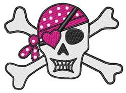 Pirate Skull & Crossbones embroidery design