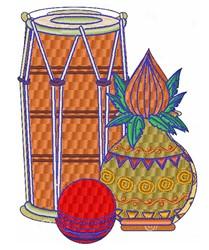 Drum embroidery design