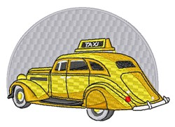 Vintage Taxi embroidery design