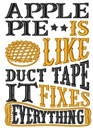 Apple Pie Fixes Everything embroidery design