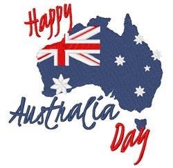 Australia Day embroidery design