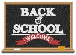 Back To School Welcome embroidery design