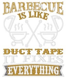 Barbecue Fixes Everything embroidery design