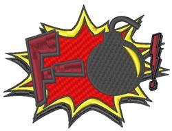 F Bomb! embroidery design