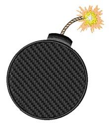 Bomb embroidery design