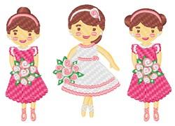 Kawaii Wedding Party embroidery design