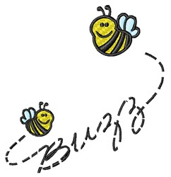 Buzzing Bees embroidery design