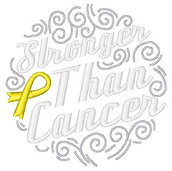Stronger Than Cancer embroidery design