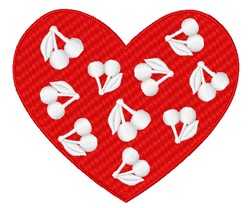 Heart Of Cherries embroidery design