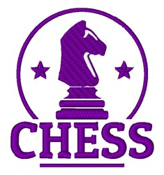 Chess Knight Piece embroidery design