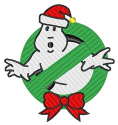 Christmas Ghostbusters Logo embroidery design