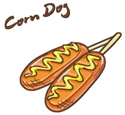 Corn Dogs embroidery design