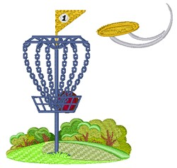 Frisbee Golf embroidery design