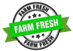 Farm Fresh Stamp embroidery design
