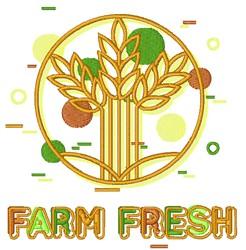Farm Fresh Outline Logo embroidery design