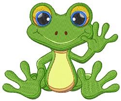 Kawaii Tropical Frog embroidery design