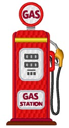 Old Gas Station Pump embroidery design