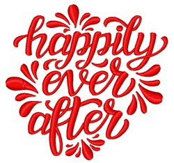 Decorative Happily Ever After embroidery design