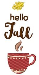 Hello Fall Coffee embroidery design