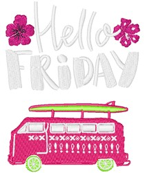 Hello Friday embroidery design