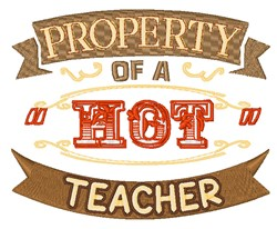 Property Of A Teacher embroidery design