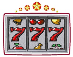 Slot Machine Triple Sevens embroidery design