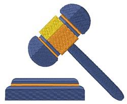 Judges Gavel embroidery design