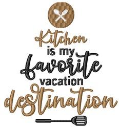 Vacation Destination embroidery design