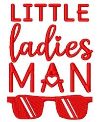 Little Ladies Man embroidery design