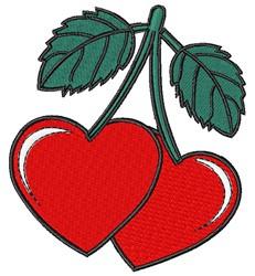 Cartoon Cherry Hearts embroidery design
