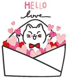 Hello Love embroidery design
