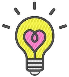 Love Lightbulb embroidery design