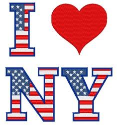 I Love NY embroidery design