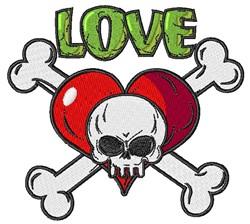 Love Skeleton embroidery design