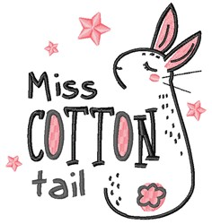 Miss Cottontail embroidery design
