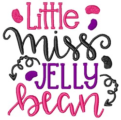 Little Miss Jelly Bean embroidery design