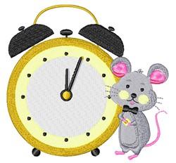 Mouse Alarm Clock embroidery design