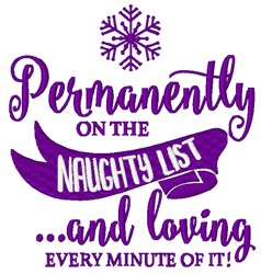 Permanently Naughty embroidery design