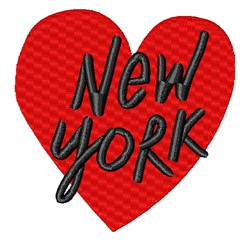 New York Heart embroidery design