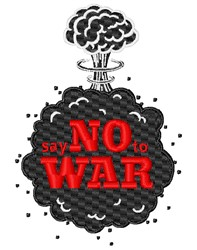 Say No To War embroidery design