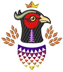 Quail Head embroidery design