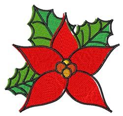 Cartoon Poinsettia embroidery design