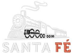 Santa Fe Train embroidery design