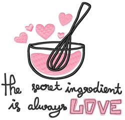 Mixing Bowl Of Love embroidery design