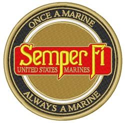 Semper Fi embroidery design