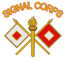 Signal Corps embroidery design
